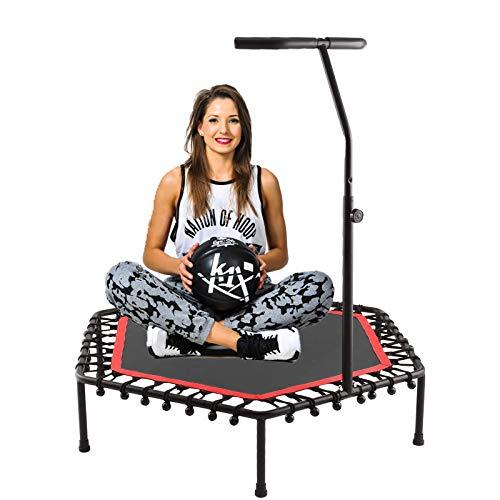 ANCHEER Trampolino da fitness, mini trampolino per bambini con maniglie in schiuma regolabili, per interni ed esterni, adatto per adulti o bambini.