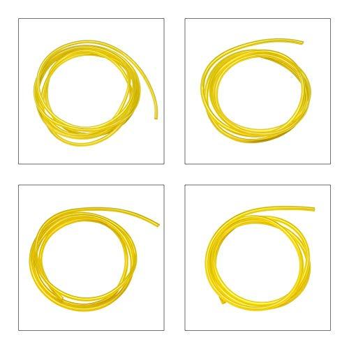 Set di 4 tubi per carburante, diametro interno x diametro esterno: 2,5 x 5 mm, 3 x 5 mm, 2 mm x 3,5 mm, 3 mm x 6 mm, tubo per benzina, tubo dell'olio diesel, tubo in PVC, tubo per acqua (2 m)
