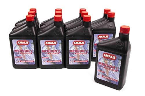 Amalie (160-62856-56-12PK MERCON V Synthetic Blend Automatic Transmission Fluid - 1 Quart (Pack of 12)