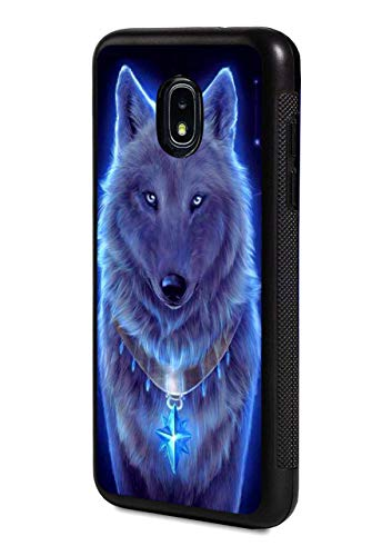 Galaxy J7 (2018) Case,Slim Impact Resistant Shock-Absorption Rubber Protective Case Cover for Samsung Galaxy J7 (2018) - Glowing Wolf
