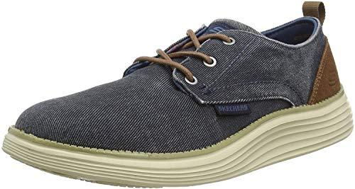 Skechers STATUS 2.0- PEXTON, Men's Low-Top Sneakers Low-Top Sneakers, Blue (Navy Nvy), 8 UK (42 EU)