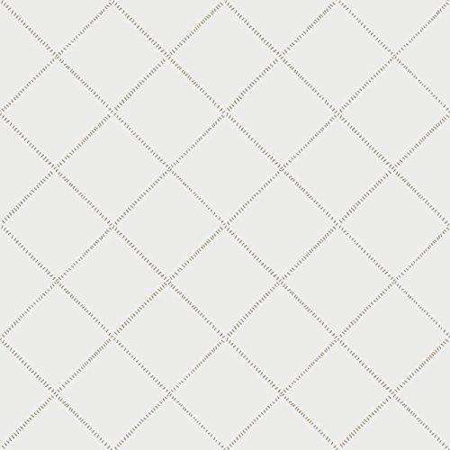 Casadeco 19019107 Papel pintado de formas geométricas con rombos en color blanco
