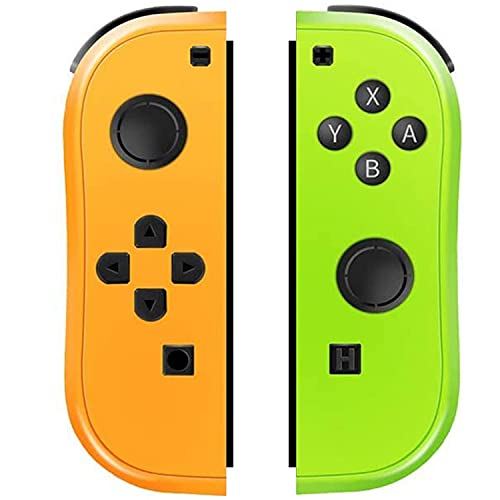 SogYupk Joy-Pad Controller Compatible with Switch Joycon,Switch Gamepad with Dual Vibration Motor Gyroscope, with Strap and Support Wake-up Function(Yellow and Green)