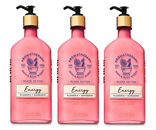 Bath and Body Works Aromatherapy ENERGY - PLUMERIA MANDARIN Value Pack - Lot of 3 Body Lotion - Full Size