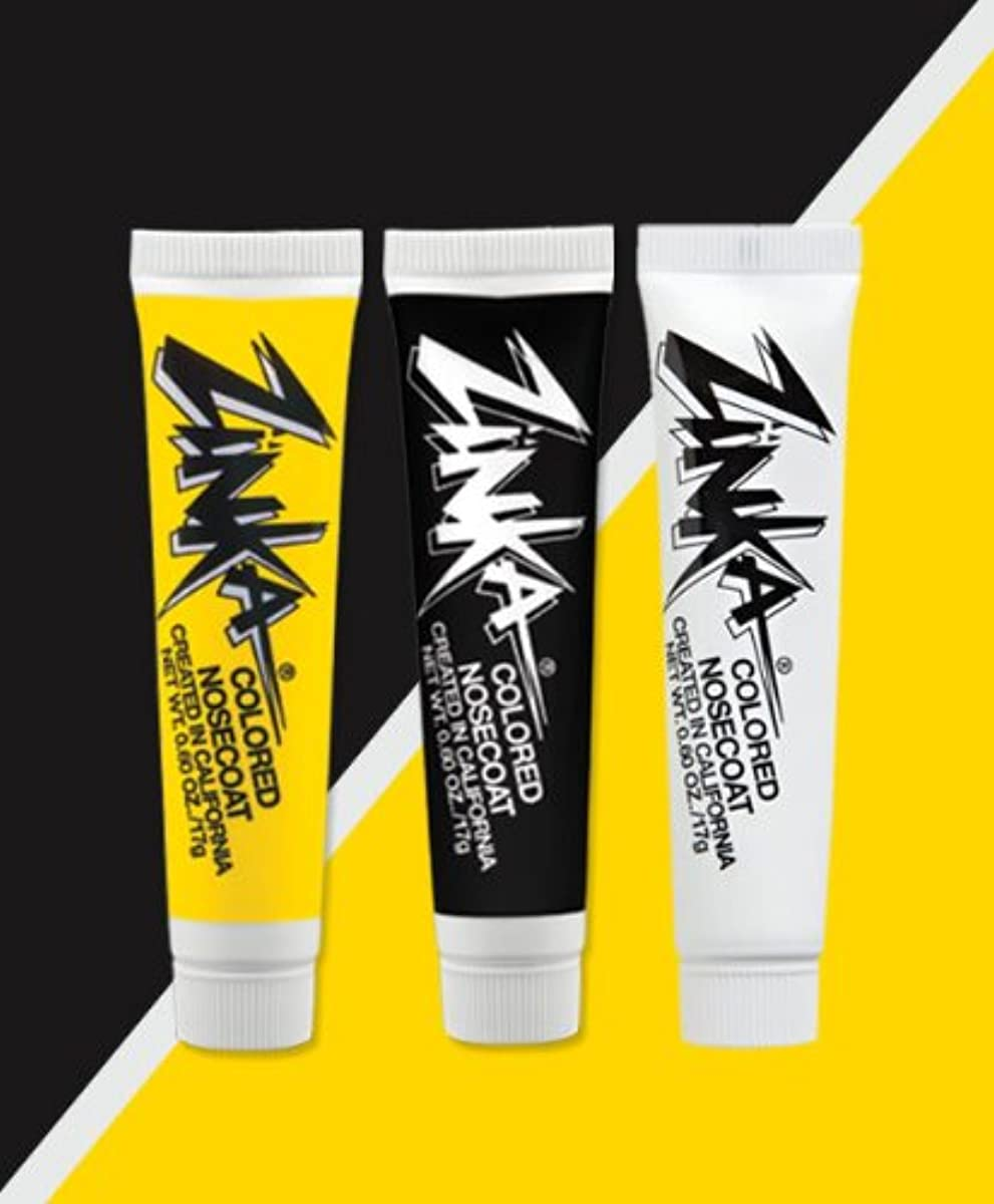 Zinka Team Face Paint And Sun Block - Pittsburg - Black/Yellow/White