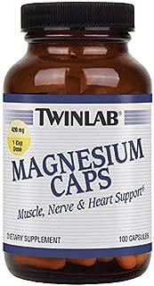 Twinlab Magnesium Capsules, 420 milligrams, 100 Capsules
