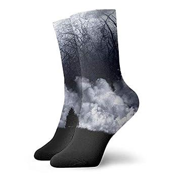Unisex High Ankle Cushion Crew Socks Earth Scenery Casual Sport Socks