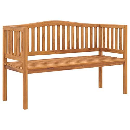 MK Palace Banc de jardin 3 places en teck massif Assise en bois 150 cm
