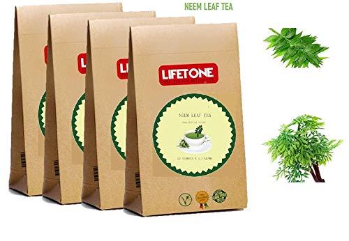lifetone the tea for better life, NEEM Teebeutel | Mit 100% reinen Neemblättern mischen 80 Teebeutel | Neem-Blatt-Tee | Detox-Tee