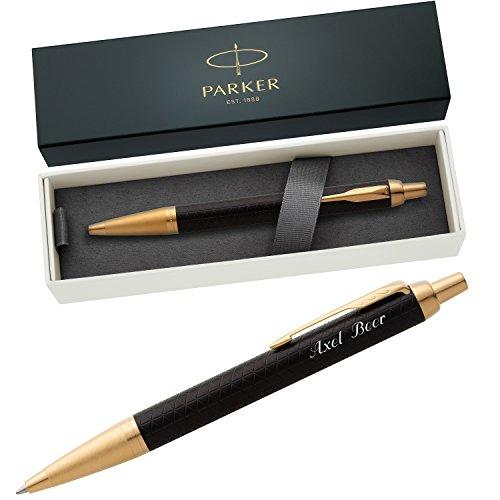 PARKER Kugelschreiber IM PREMIUM Black/Gold G.C. 1931667 mit persönlicher Laser-Gravur