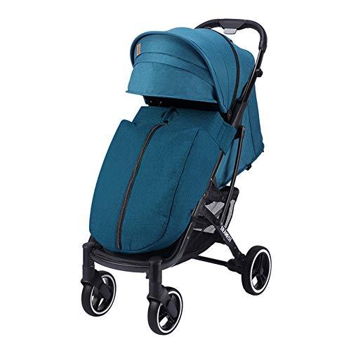 LYzpf Leichter Baby Kinderwagen Schön Stilvolle Babyartikel Kombikinderwagen Babyausstattung Buggy Faltbar Babyzubehör Babyprodukte Kompakt Zubehör für 0-36 Monate,Blue