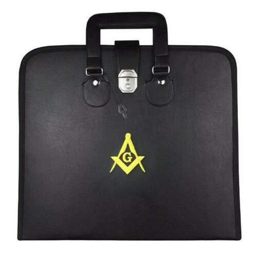 Masonic Regalia Master Mason MM/WM Apron Case golden embroidered 15' X 17'