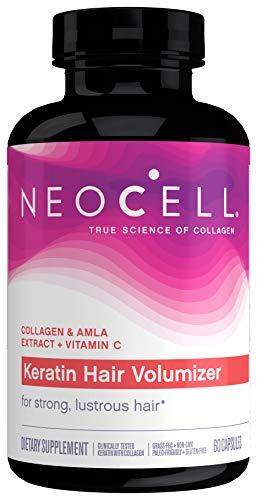 NeoCell Keratin Hair Volumizer, Enhance Hair Strength, Grass-Fed Collagen,...