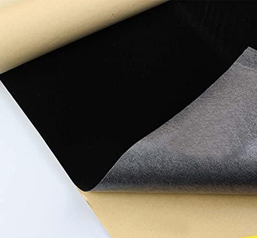 Rollo de papel de terciopelo autoadhesivo de tela suave para cajones de joyería, tela de terciopelo para manualidades, proyectos de manualidades, 44 x 300 cm, color negro