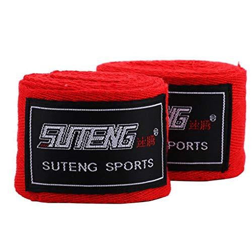 Centens 2,5 Meter lang Erwachsene Boxing Hand Strap,Elastic Boxing 1 Paar elastische Bandagen Boxen Trainings-Praxis Baumwollhandschutz Bügel-Verband