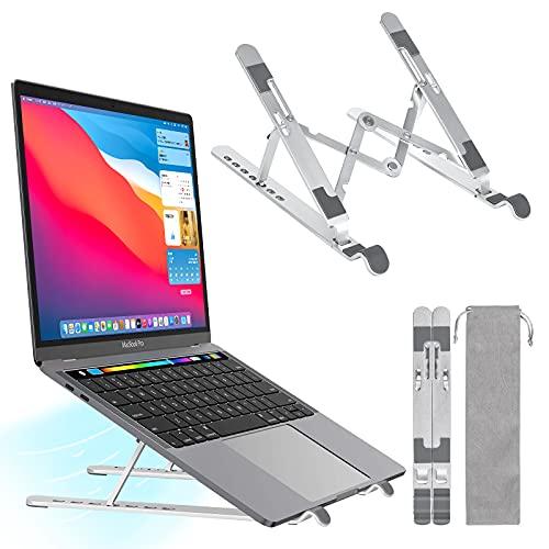 sanlinkee Laptop Stand, Adjustable Laptop Riser for Desk, Portable Foldable...