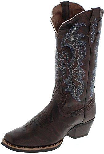 Justin Boots Damen Cowboy Stiefel SVL7316 Westernreitstiefel Lederstiefel Braun 38 EU