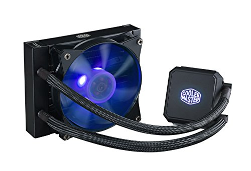 Cooler Master MasterLiquid LC120E RGB Close-Loop AIO CPU Liquid Cooler, 120mm Radiator, Dual Chamber RGB Pump, AMD Ryzen/Intel LGA1151