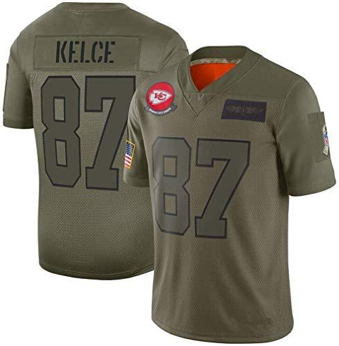 CZ-SQG Camisetas de fútbol de la NFL Jersey Jefes de Kansas City 15# 87# Jersey Top de Manga Corta (Verde) (Color : Green-87, Size : M)