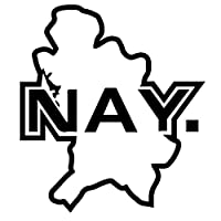 車のステッカーの装飾 14.4X16.2CMナヤリットメキシコ州地図カーステッカーカースタイリングビニールデカールブラック/シルバーアクセサリー (Color Name : Black)