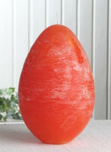 Rustik-Eikerze, durchgefärbt, XL, ca. 16 x 11 cm mandarin-orange