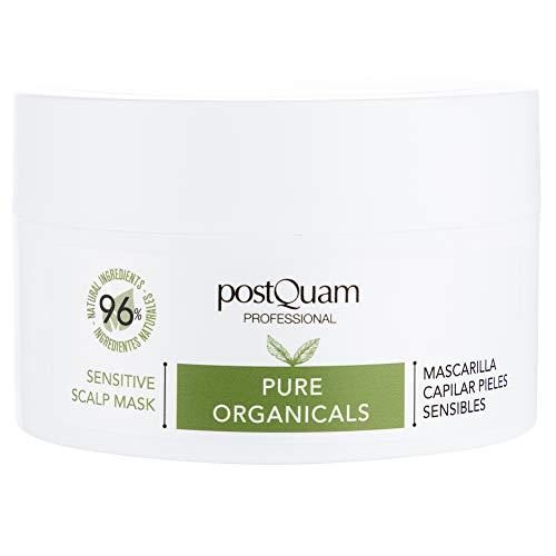 PostQuam Organicals -Mascarilla Pelo Cuero Cabelludo Sensible | Mascarilla Calmante para Cuero Cabelludo Sensible - 96% Ingredientes Naturales, 250 ml