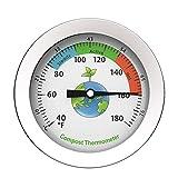 LUNAH Termómetro de Suelo de Compost - Pantalla de dial Termómetro de Compost de Acero Inoxidable Sonda de Temperatura del Suelo portátil del Suelo del jardín para compostaje en el Patio Trasero