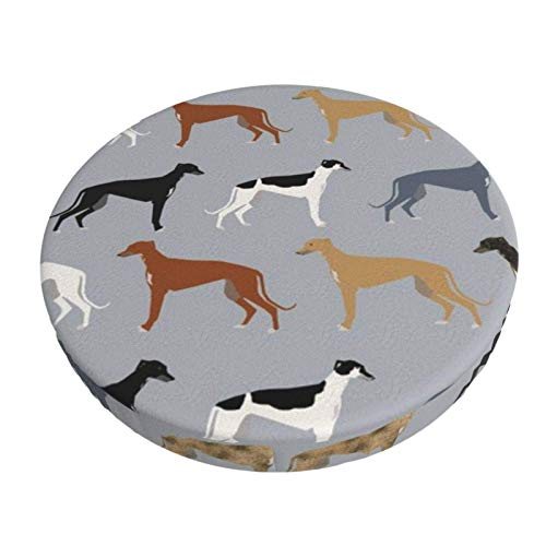 Round Bar Stools Cover,Windhunde Größere Version Hunde Windhund,Stretch Chair Seat Bar Stool Cover Seat Cushion Slipcovers Chair Cushion Cover Round Lift Chair Stool
