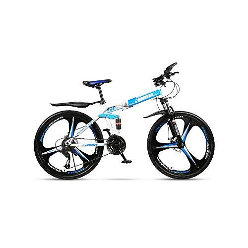 LRHD 24 Velocidad de Durable montaña plegable for bicicleta de 24 pulgadas masculino y femenino estudiantes Shift Frenos Doble Amortiguador del viajero adulto plegable dual de doble disco Amortiguador