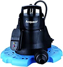 Acquaer Submersible Pool Cover Pump - 2,300 GPH, 1/4 HP, 1 1/4in. Port, Model Number PCP025