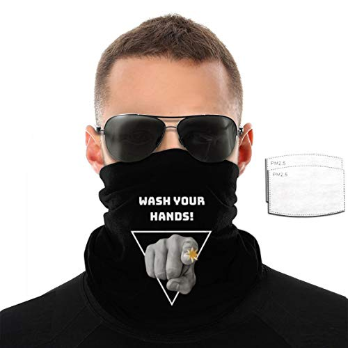 Together We Fight Cov-id-19 Men Balaclava, Tactical Mask, Women Sun Hood, Neck Gaiter Dust UV Protection with Filters