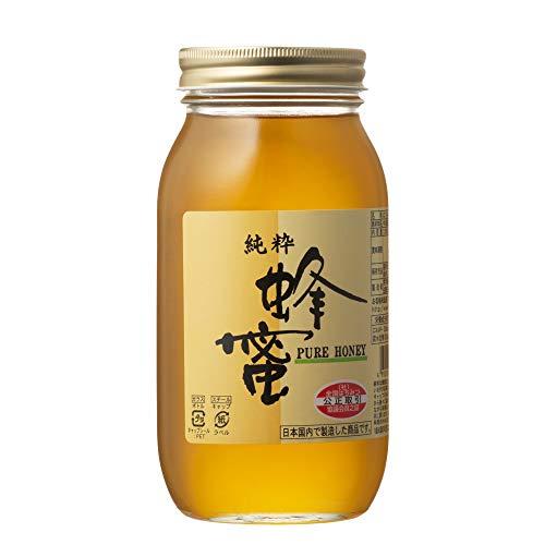 [熊手のはちみつ] 中国産純粋 はちみつ (瓶1kg) 100%純粋 ハチミツ 蜂蜜