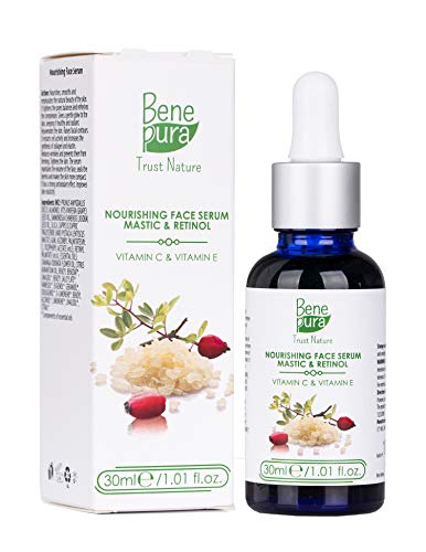 PREMIUM Retinol Gezichtsserum met Vitamine C & E, Mastiek & Druivenpitolie - het Beste Voedende Anti-aging & Anti-rimpel Huidserum - Dit Vitamine C-serum - Hydrateert en Verfrist je Look - Een Geweldige Verzorging voor Jouw Huid