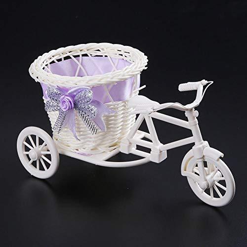 Zyf Rattan driewieler fietsmand tuin bruiloft party kantoor tafelvaas huisdecoratie slaapkamer-9