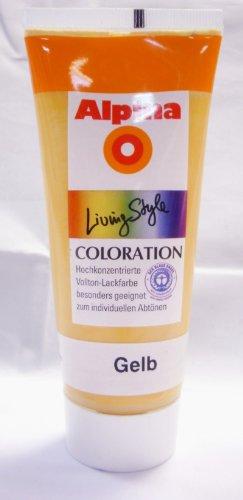 Bastelfarbe, Acryl Farbe, Gelb, 100 ml, wasserverdünnbar, hochkonzentrierte Vollton-Lackfarbe, 9,90 Euro/Liter
