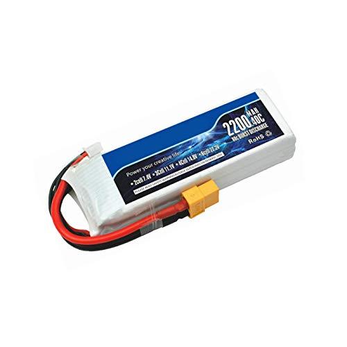 NHFGJ Batería Lipo de 11.1 V para Coche a Control Remoto, Piezas de Repuesto para helicóptero, 3S, 11,1 v, 2200mAh, batería 803496, Accesorios para Juguetes a Control Remoto T