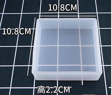 YSQSPWS Moldes de Resina Cristal UV epoxi Cuadrado Molde Rectangular Silicona Alto...