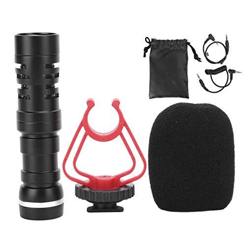 Micrófono de cámara Micrófono de condensador con soporte antivibración incorporado, simula el...
