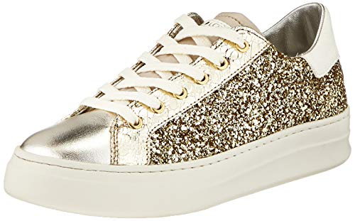 Crime London Damen SONIK Sneaker, Gold, 39 EU