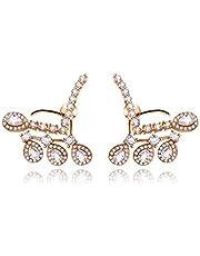 SWAROVSKI elements crystal jewelry 18K gold plating diamond refinement earrings stud for women JINE28 champagne gold