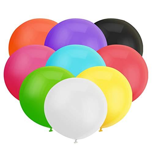 18 Zoll Großer Runder Ballon Sortierter Latex Riesiger Luftballone Jumbo Dicke Ballone für Foto-Aufnahmen / Geburtstag / Hochzeitsfest / Festival / Event / Karnevals-Dekorationen 30ct / Pack
