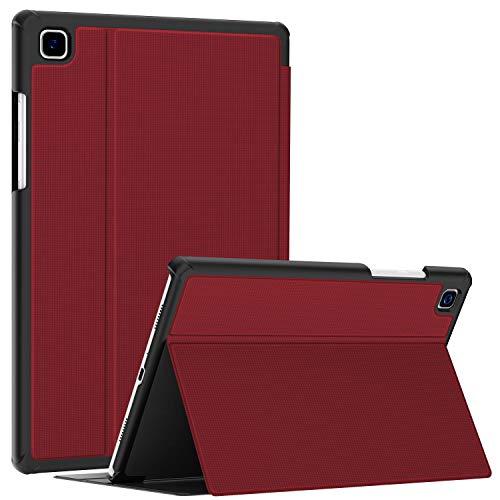 Soke Hülle für Samsung Galaxy Tab A7 10.4 (2020 Modell SM-T500 / T505 / T507), Folio Slim TPU Leder Schutzhülle Smart Cover, mit Auto aufwachen/Schlaf Passt für Galaxy Tab A7 Hülle, rot