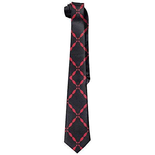 Black Bowling Pins Men's Tie Long Necktie Skinny Neckwear Silk