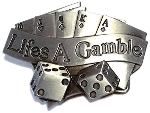 Buckle Poker, Royal Flush, Lifes A Gamble, Würfel, Glücksspiel, Gürtelschnalle
