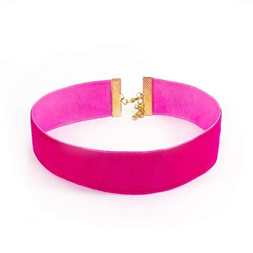 Oblique Unique® Halsband Halskette Damen Mädchen Kette Choker Pink für JGA Junggesellinnenabschied Party - Menge wählbar (Menge 1)