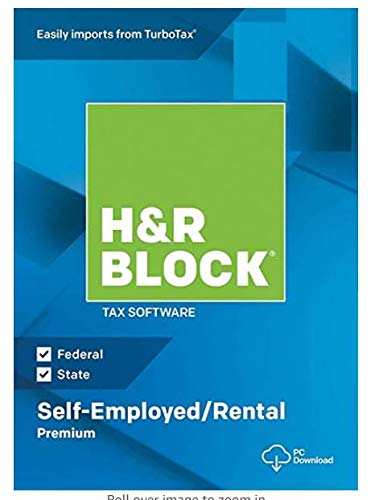 H&R Block Tax Software Premium 2019_Self-Employed/Rental Property Owners | 5 Fed E-File + State + Activation Key| [PC/MAC D0WNL0ADABLE: NO DISC]