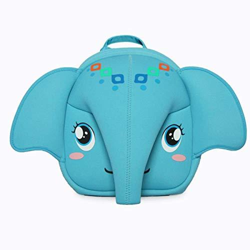 xiaozai Mochila De Neopreno Dumbo para Niños Mochila Antipérdida De Elefante Mochila De Jardín De Infantes Azul