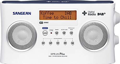Sangean DPR25 Tragbares Digital-Radio (LCD-Display, DAB+, FM-RDS, LED) schwarz
