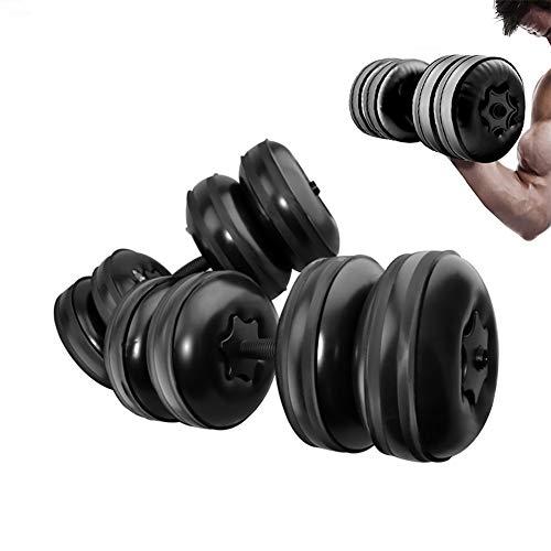 BDLeKing Peso 20KG Entrenamiento Ambiental Brazo Entrenamiento de Fuerza Muscular Mancuernas Fitness Mancuernas Ajustables llenas de Agua