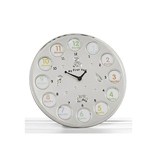 SHUDEHILL Horloge/cadre Photo pour bébé 12 emplacements